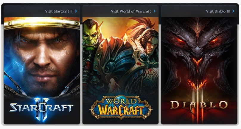 Самые популярные постановки Blizzard: Starcraft 2, Diablo 3, Warcraft 3, World of Warcraft